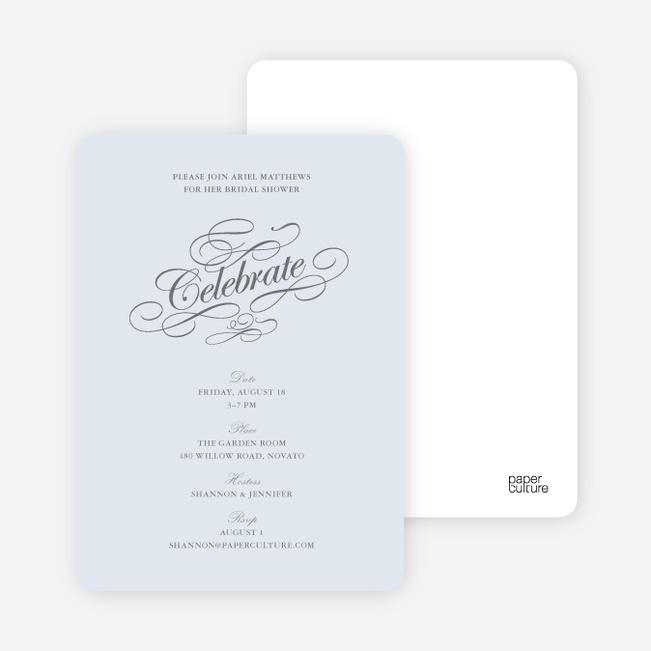 Celebrate: Bridal Shower Invitations - Glacier