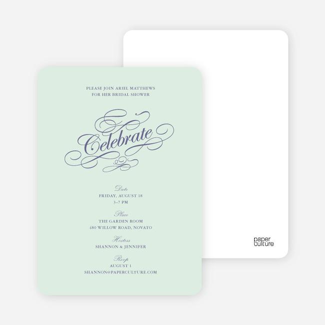 Celebrate: Bridal Shower Invitations - Pale Mint
