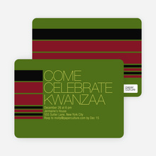 Celebrate Kwanza Invitation - Chartreuse