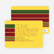 Celebrate Kwanza Invitation - Sun Gold