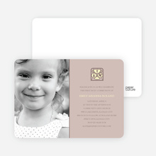 Chalice and Child Communion Invitations - Light Eggplant