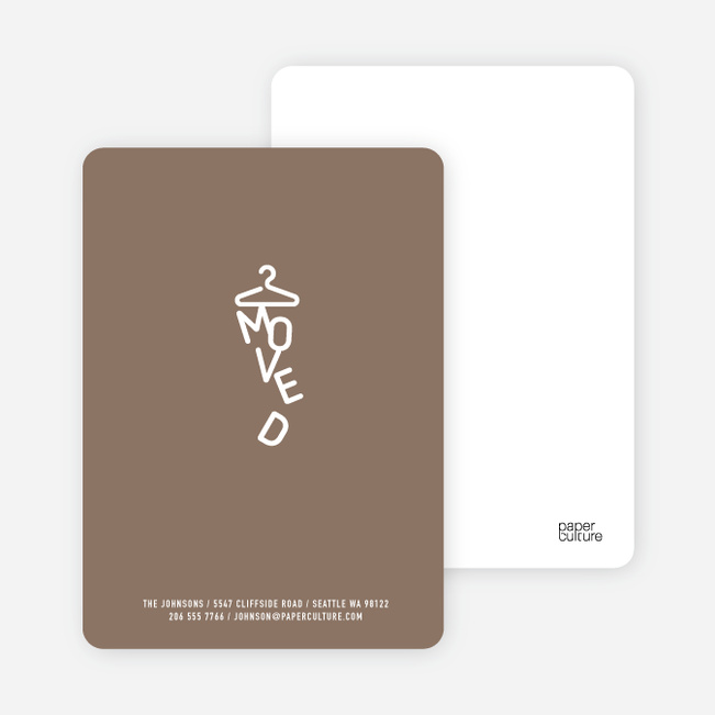 Characters Moved Change of Address Cards - Coco Latte