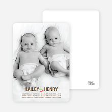 Cherry on Top Photo Baby Announcements - Chocolate