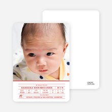 Chinese Zodiac Birth Certificate - Brick Red