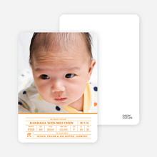 Chinese Zodiac Birth Certificate - Citrus Zing