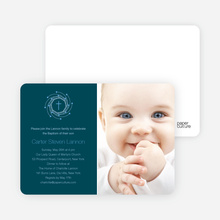 Holiday Baptism Invitation - Baby Blue