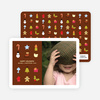 Christmas Icons Holiday Photo Cards - Chocolate