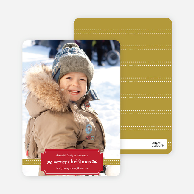Christmas Label Holiday Photo Cards - Cherry