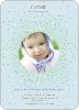 Blooming Star Kid's Birthday Invitations - Blue Star