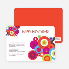 Circle Holiday Invitations - Multi