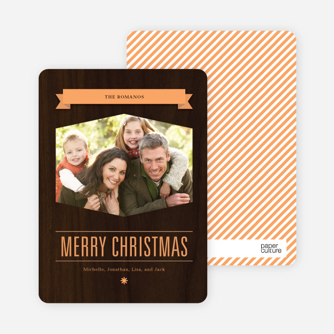 Classic Banner Holiday Photo Cards - Citrus Zing