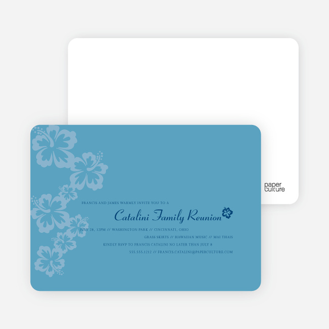 Classic Summer Flower Party Invitations - Periwinkle