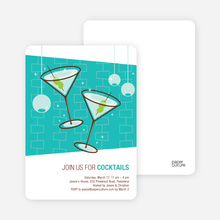 Cocktail Party Time Invitations - Turquoise