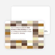 Color Blocks Party Invitations - Chocolate
