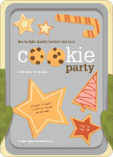 Cookie Party Holiday Invitations - Asparagus