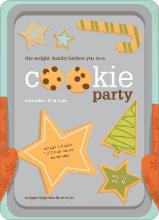 Cookie Party Holiday Invitations - Papaya