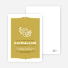 Cornucopia: Thanksgiving Invitations - Mustard