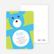 Cuddly Teddy Bear Invites - Light Lime