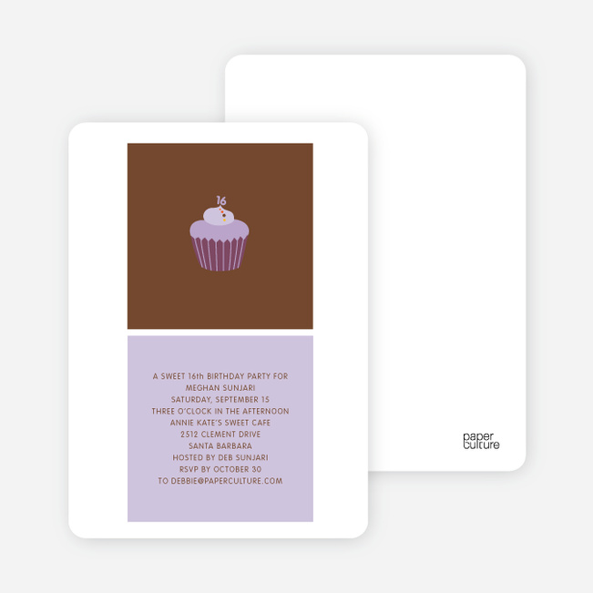 Cupcake Party - Purple Tulip