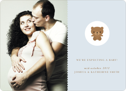Cute Teddy Bear Pregnancy Announcements - Blueberry Seed