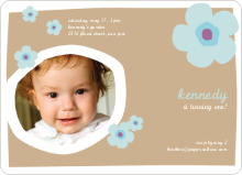 Flower Photo Cards - Almond Beige