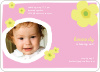 Flower Photo Cards for Birthday Parties - Bubble Gum Pink