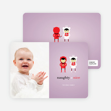 Devil and the Angel Holiday Photo Cards - Wisteria