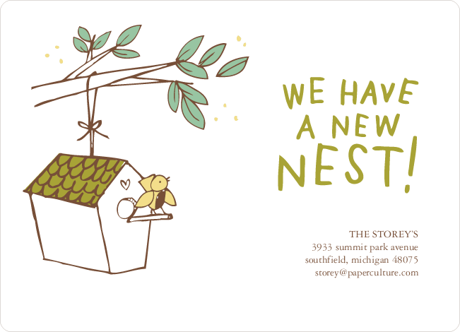 Flown the Coop, New Nest Moving Announcements - Seaweed