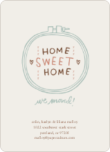 Embroidery: Home Sweet Home - Canvas
