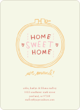 Embroidery: Home Sweet Home - Squeezed Lemon