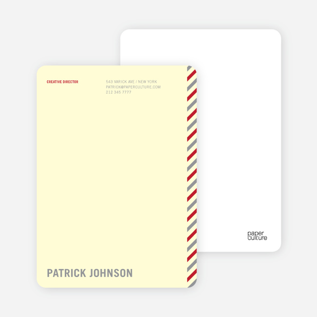 Diagonal Stripes Personal or Professional Stationery - Silver Smoke