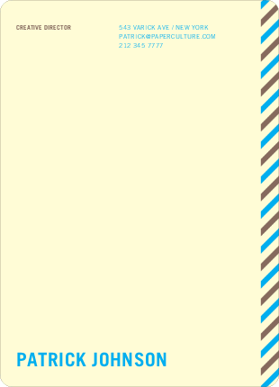 Diagonal Stripes Personal or Professional Stationery - Blue Tonic