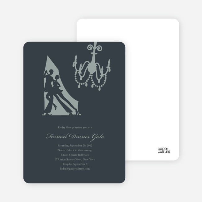 Dinner and Dancing Invitations - Slate