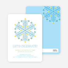 Dotted Snowflake - Royal Blue