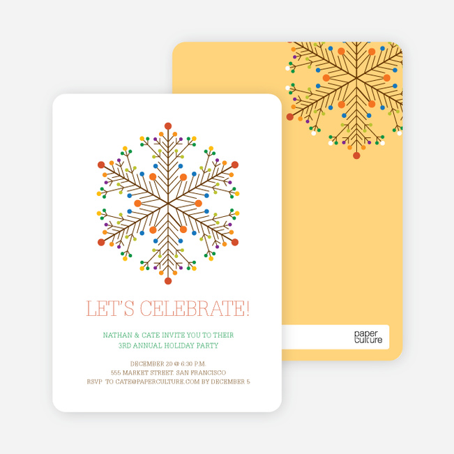 Dotted Snowflake Holiday Invitations | Paper Culture