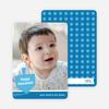 Dreidel Silhouette Hanukkah Photo Cards - Royal Blue