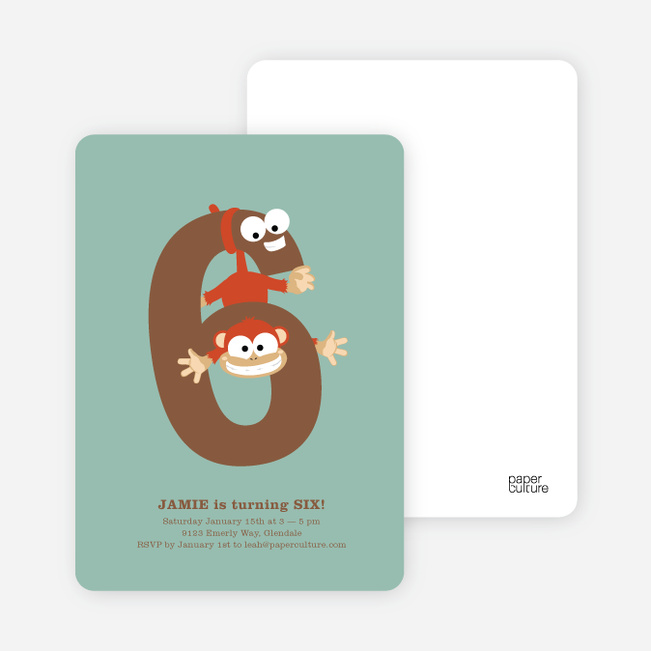 Dynamic Animal Duo Birthday Invitations - Green Bubble