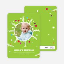 Eccentric Snowflake Wreath - Celery