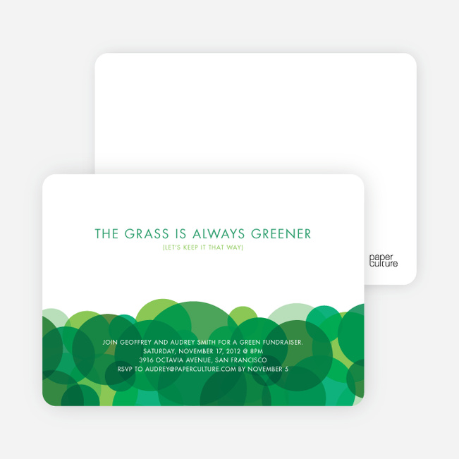 Eco Friendly Party Invitations - Forest Green