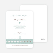 Elegant Candle Baptism Invitation - Green