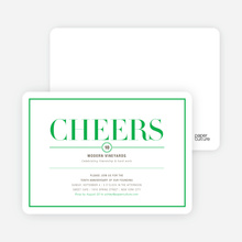 Elegant Cheers Invitations - Mint Julep