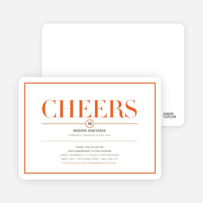 Elegant Cheers Invitations - Ginger Martini