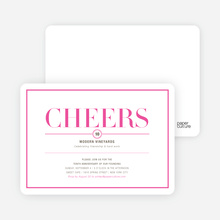 Elegant Cheers Invitations - Pomegranate Cosmo