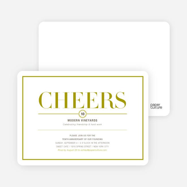 Elegant Cheers Invitations - Cilantro