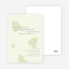 Elegant Leaves Bridal Shower Invites - Honeydew
