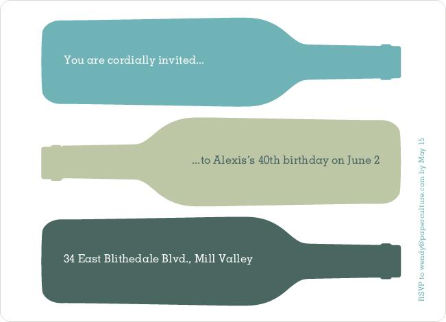 Fine Wine Party Invitation – Wine Party Invite