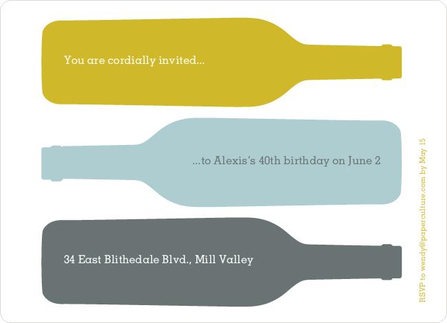 Fine Wine Party Invitation - Gold