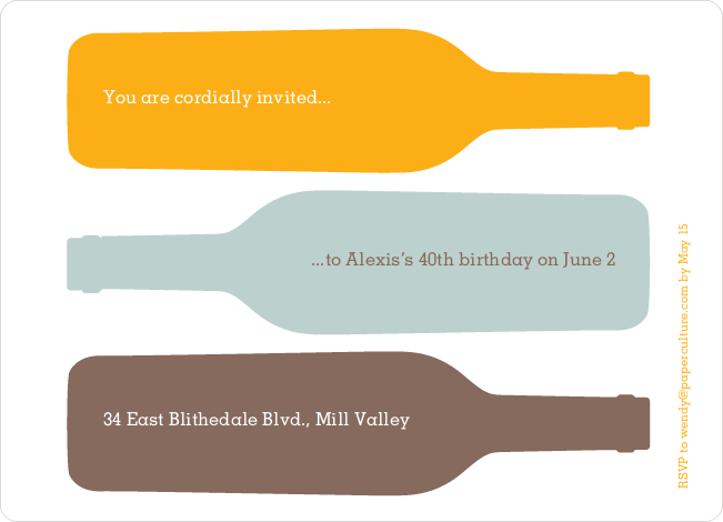 Fine Wine Party Invitation - Creamsicle Orange