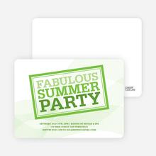 Fabulous Summer Party Invitations - Asparagus