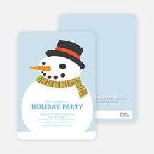 Fat Snowman Holiday Invitations - Powder Blue